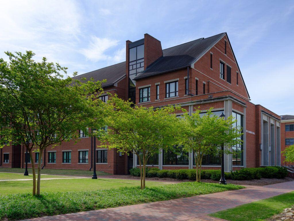 Exterior of Pat Barker Hall