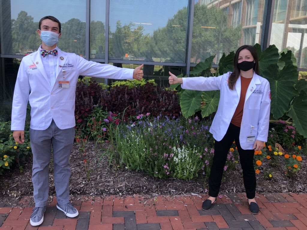 medical students in masks