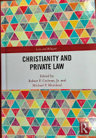 Photo of cover of book Christianity and Private Law