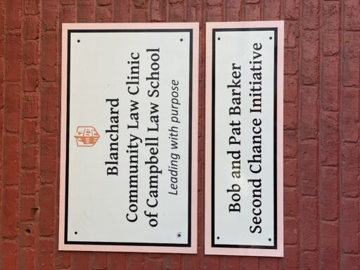 Picture of Blanchard Community Law Clinic sign
