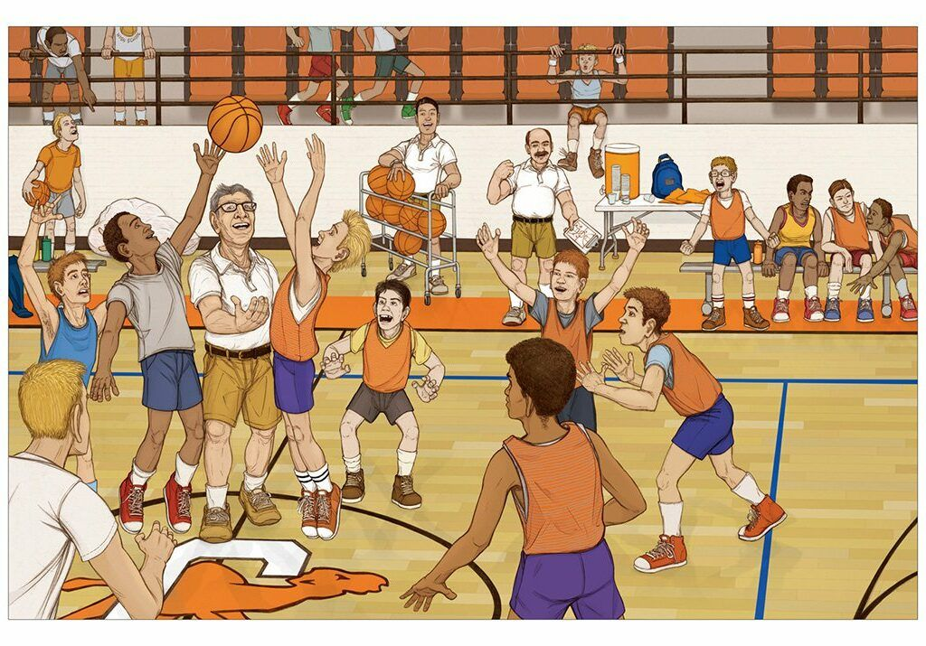 Legendary court illustration