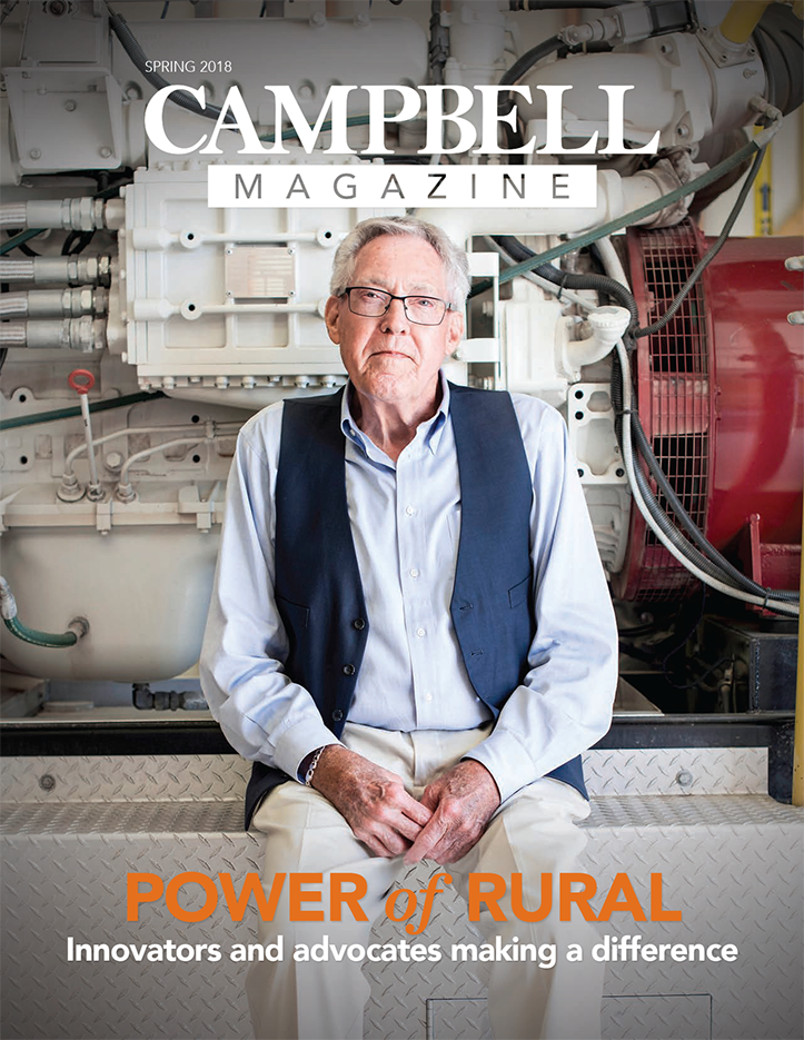 cover image of Campbell Magazine Spring 2018