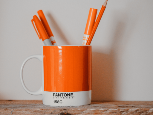 158C Orange Coffee Cup