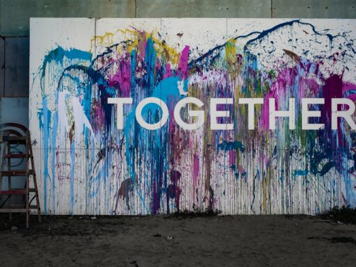 Together splatter paint