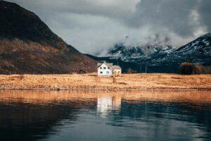 Rural house near water