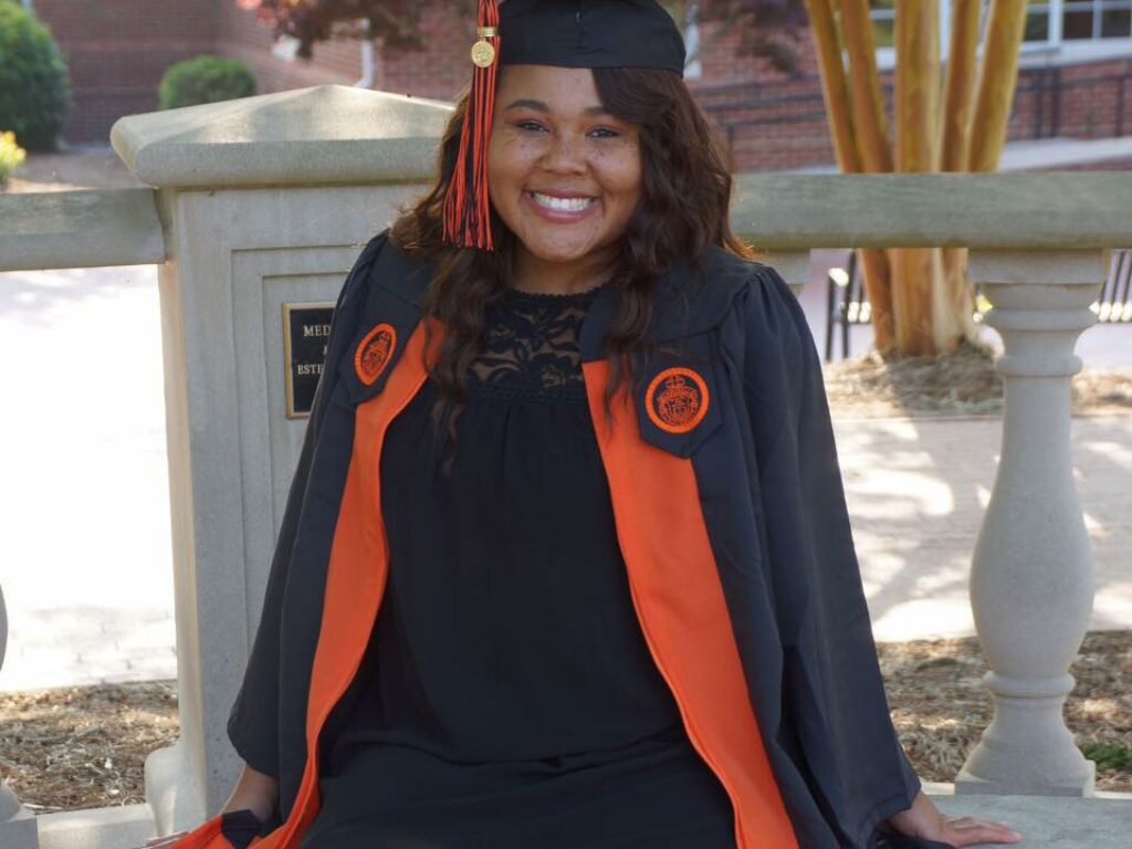 Ashley Elliott in her cap and gown.