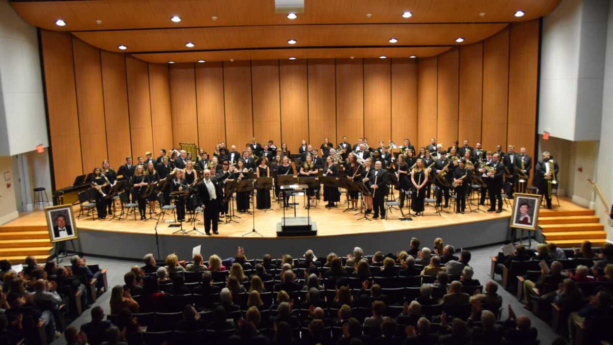Campbell University Wind Ensemble at the Hobson Performance Center Inaugural Gala