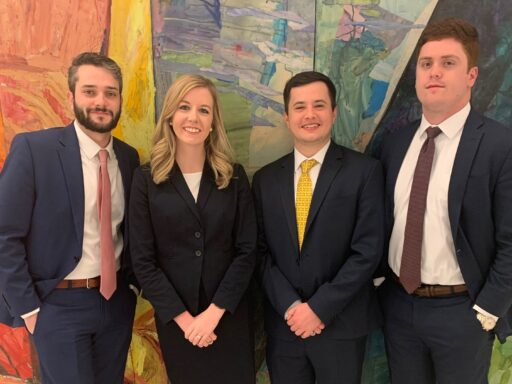 Photo of four Campbell Law advocates who are competing in the 2020 Capital City Challenge