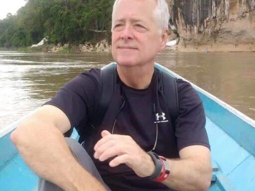 Photo of Campbell Law alumni Sam Cooper '84 Sam-Cooper-Crossing-Mekong-outside-Luang-Prabang