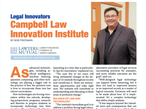 Photo of Kevin Lee's article in Attorney at Law Magazine