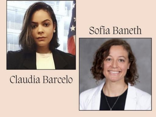 Photo of Claudia and Sofia WCBA scholarship winners