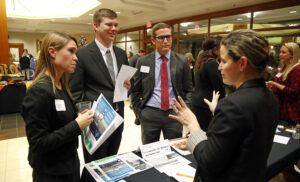 image of Law students at Career Night 2017